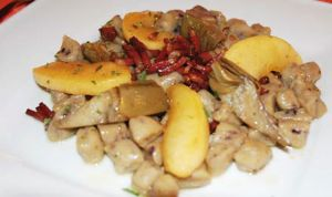 Gnocchi di patate e mirtilli